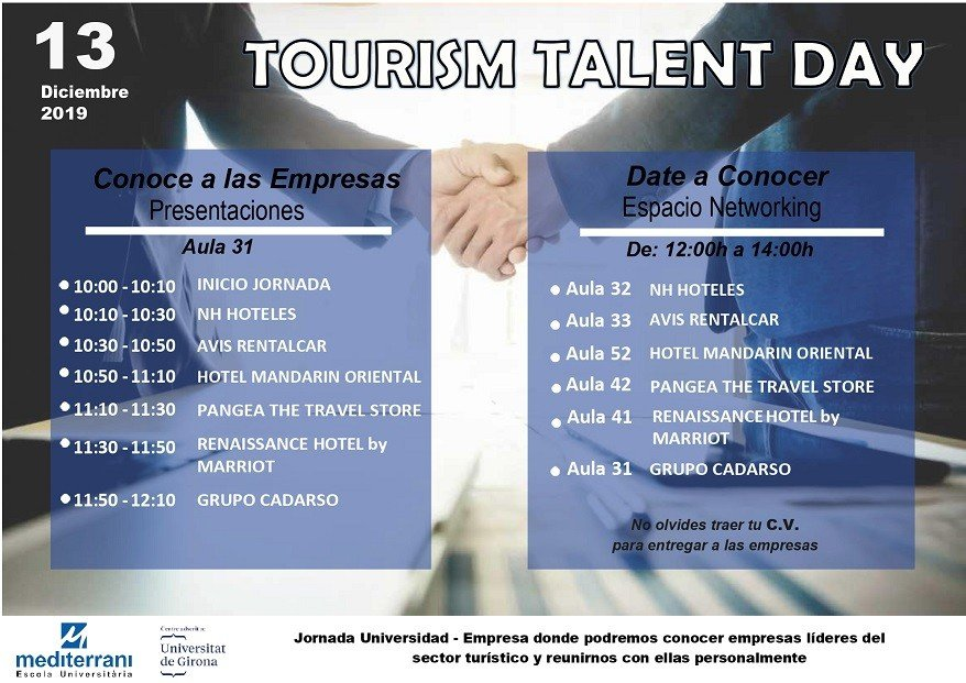 ON DECEMBER 13 YOU CANNOT MISS THE TOURISM TALENT DAY OF EU MEDITERRANI